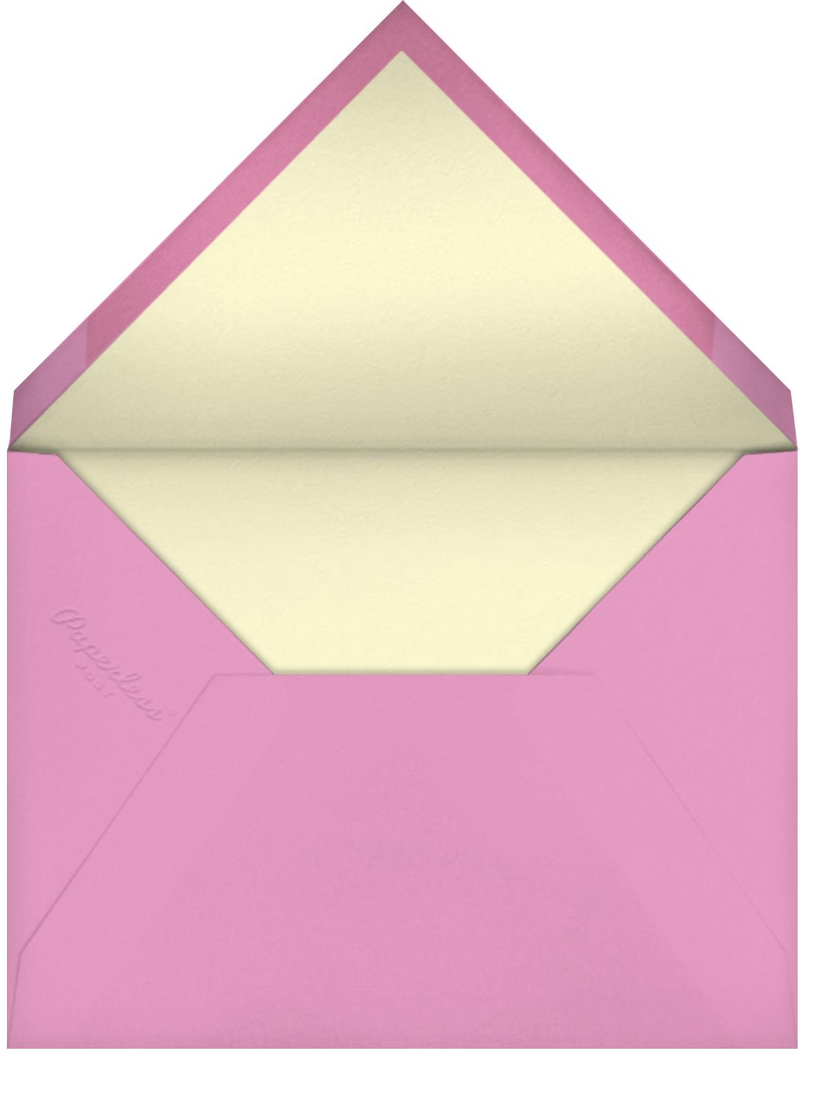 Painted Posies - Mauve - kate spade new york - Bridal shower - envelope back