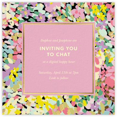 Painted Posies - Mauve - kate spade new york - Virtual Parties