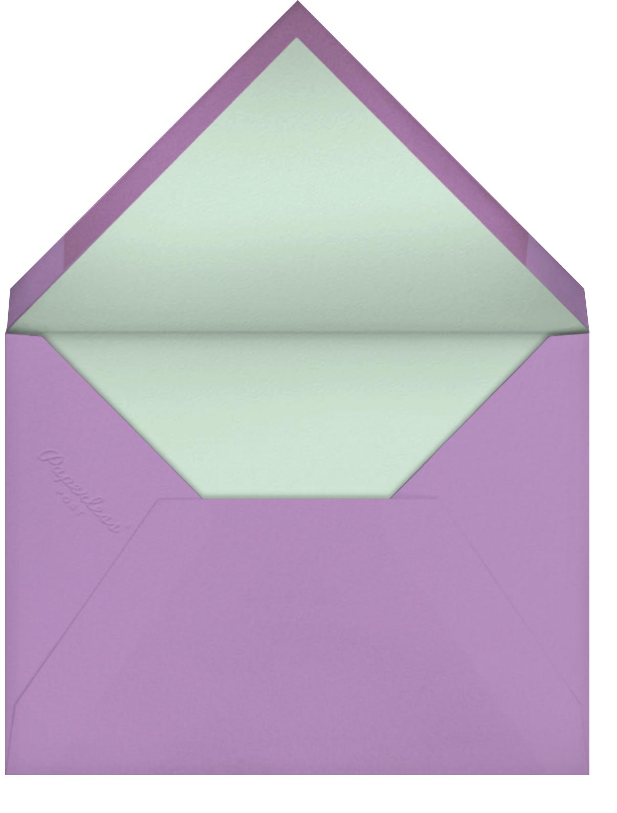 Painted Posies - Wisteria - kate spade new york - Bridal shower - envelope back