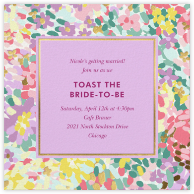 Painted Posies - Wisteria - kate spade new york - Bridal shower invitations