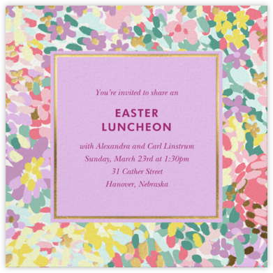 Painted Posies - Wisteria - kate spade new york - Easter Invitations