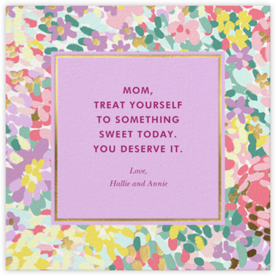 Painted Posies - Wisteria - kate spade new york - Mother's Day Cards