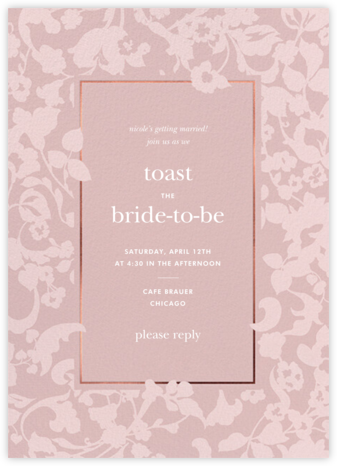 Lace Garden - Tea Rose - kate spade new york - Bridal shower invitations