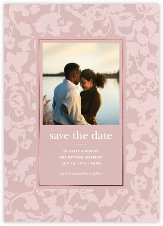 Lace Garden Photo - Tea Rose - kate spade new york - Save the dates