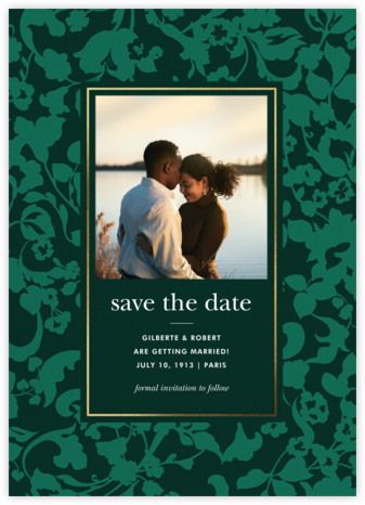 Lace Garden Photo - Hunter Green - kate spade new york - Save the dates