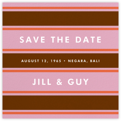 Montauk - Pink - kate spade new york - Save the dates