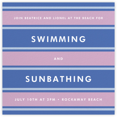 Montauk - Antwerp - kate spade new york - Beach Party Invitations