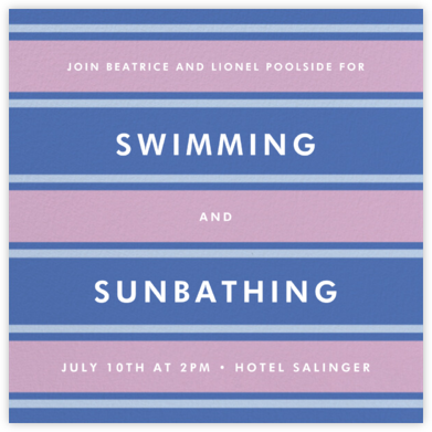 Montauk - Antwerp - kate spade new york - Pool Party Invitations