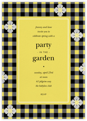Garden Gingham - Yellow - kate spade new york -