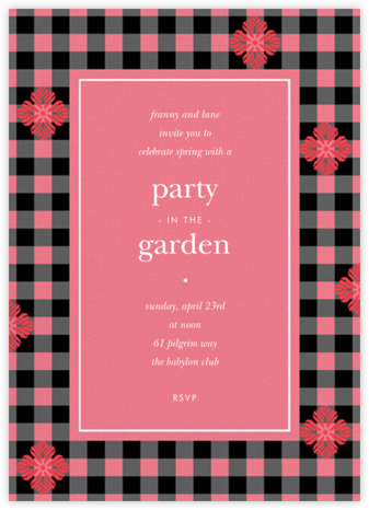 Garden Gingham - Coral - kate spade new york -