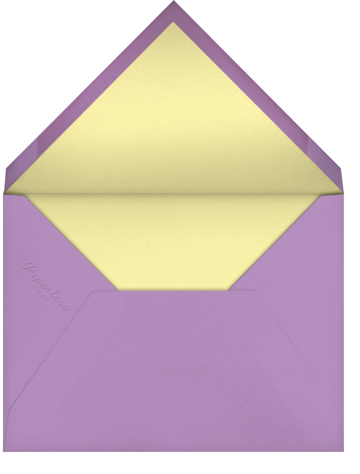 Garden Gingham - Lilac - kate spade new york - Spring parties - envelope back