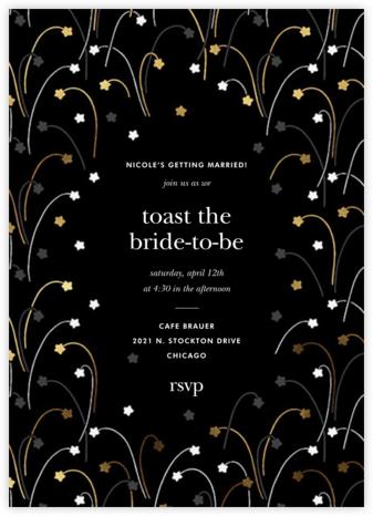 Long Stems - Metallic - kate spade new york - Bridal shower invitations