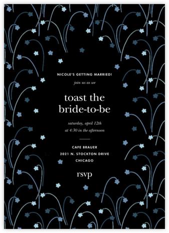 Long Stems - Cadet - kate spade new york - Bridal shower invitations