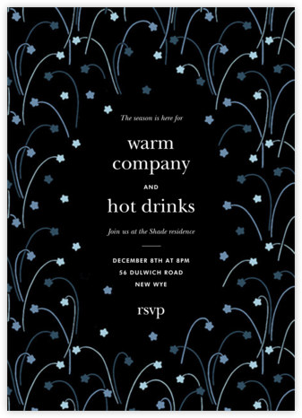 Long Stems - Cadet - kate spade new york - Winter Party Invitations