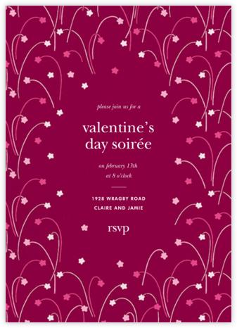 Long Stems - Raspberry - kate spade new york - Valentine's Day invitations