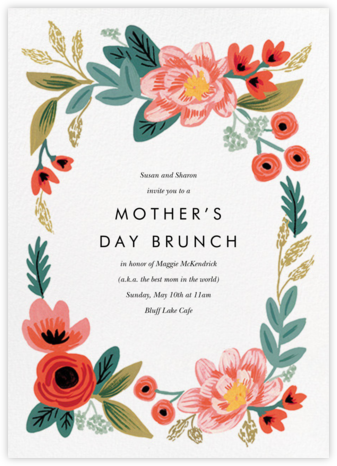 Woven Wildflowers - White - Rifle Paper Co. - Online Mother's Day invitations