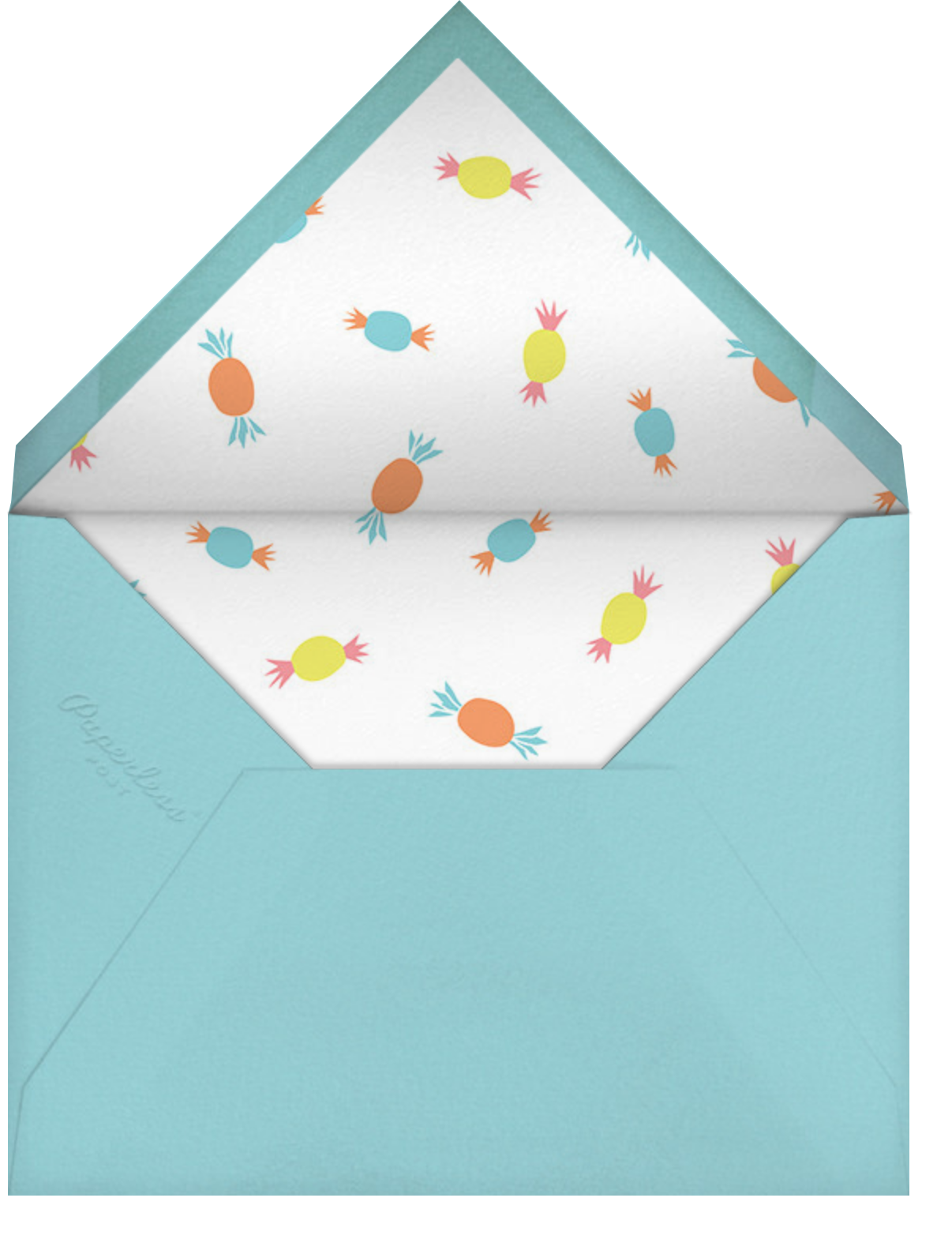 Presents Parade - Little Cube - Woodland baby shower invitations - envelope back