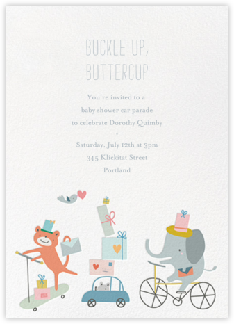 Presents Parade - Little Cube - Online Baby Shower Invitations