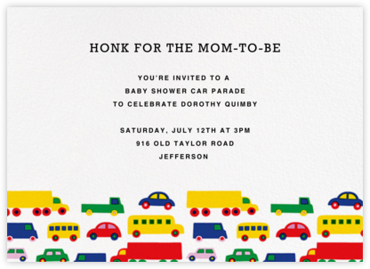 Bo Boo (Horizontal) - Marimekko - Baby Shower Invitations