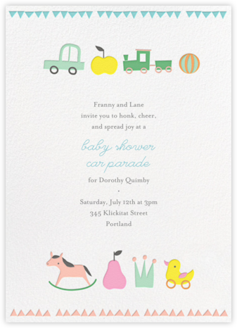 Toy Parade (Tall) - Little Cube - Baby Shower Invitations