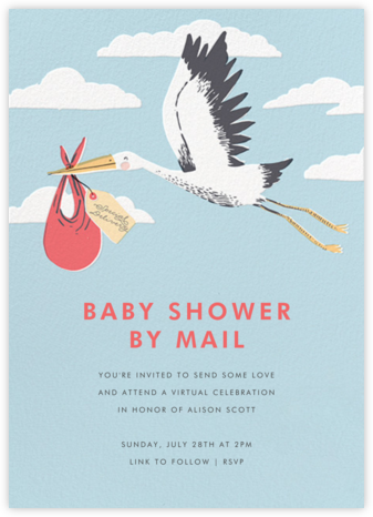 Airmail (Invitation) - Hello!Lucky - Online Baby Shower Invitations