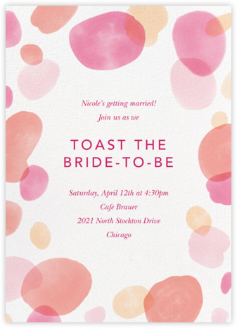 Round Out - Blossom - Paperless Post - Bridal shower invitations