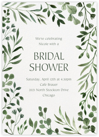 Forever Greens - Paperless Post - Bridal shower invitations