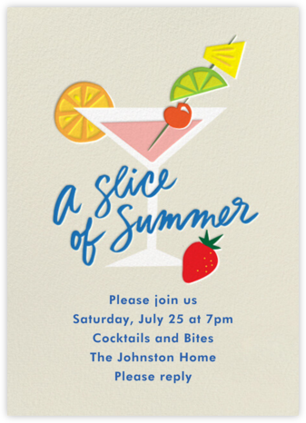 Garnished - Cheree Berry - Summer Party Invitations