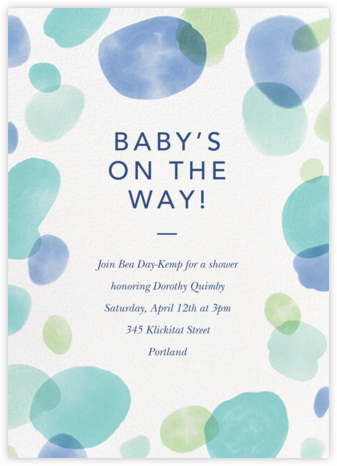 Round Out - Caribbean - Paperless Post - Baby Shower Invitations