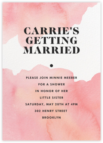 Blush Stroke - Paperless Post - Bridal shower invitations