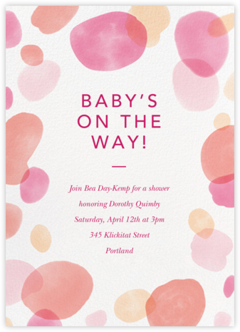 Round Out - Blossom - Paperless Post - Baby Shower Invitations