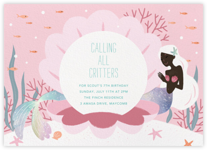 Mermaid Cove - Deep - Paperless Post - Online Kids' Birthday Invitations