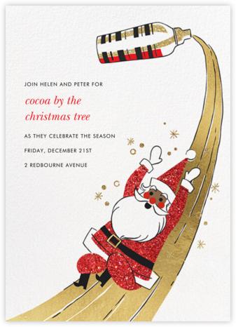 Santa's Slip and Sip - Tan - Paperless Post