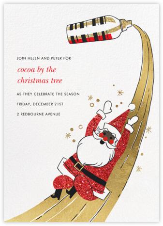 Santa's Slip and Sip - Deep - Paperless Post - Christmas party invitations