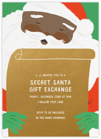 Top of the List - Tan - Paperless Post - Gift Exchange Invitations