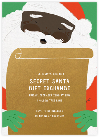 Top of the List - Deep - Paperless Post - Christmas party invitations