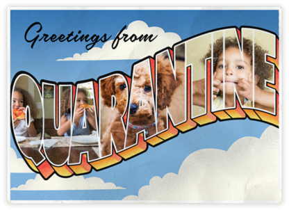 Quarantine Postcard - Paperless Post - Just Because Cards