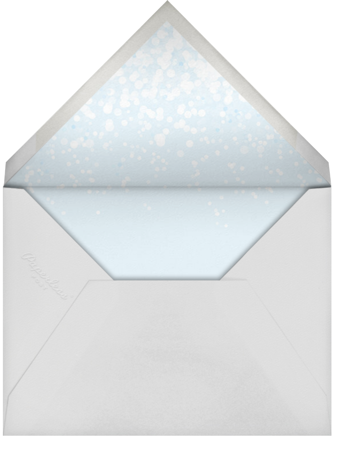 Snow Flurry Photo - Paperless Post - Kids' birthday - envelope back