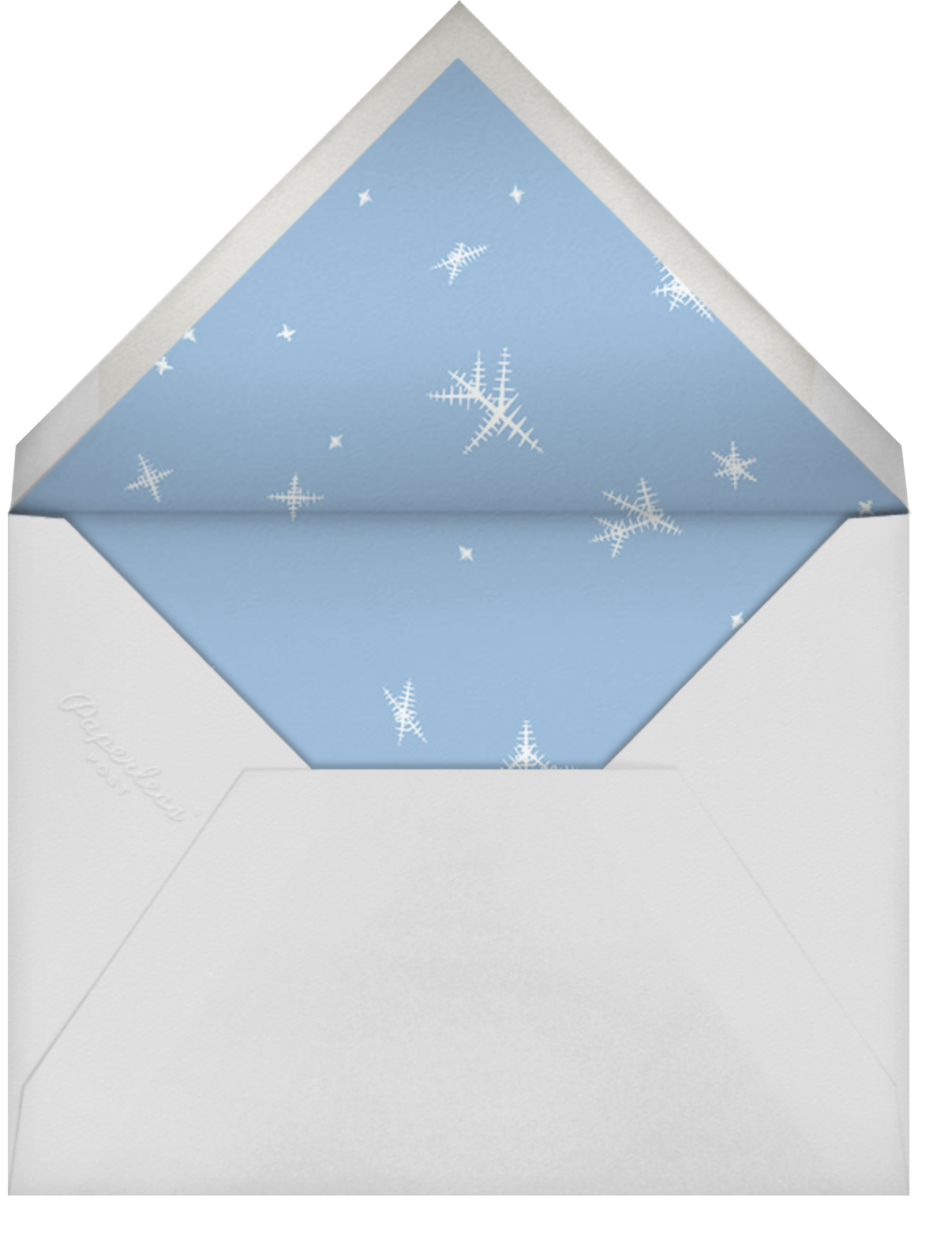 Snow Crystals Photo - Paperless Post - Kids' birthday - envelope back