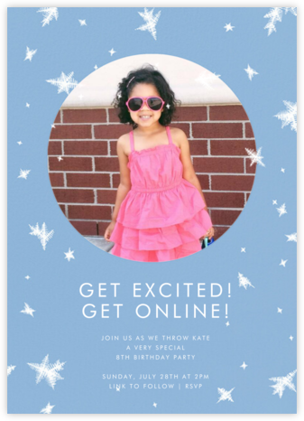 Snow Crystals Photo - Paperless Post - Online Kids' Birthday Invitations