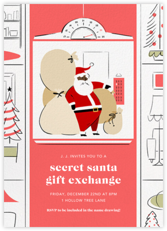 Going Up - Deep - Paperless Post - Christmas party invitations