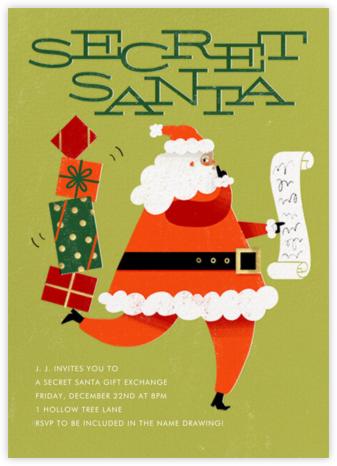 Santa's Got a Secret - Medium - Paperless Post - Christmas party invitations