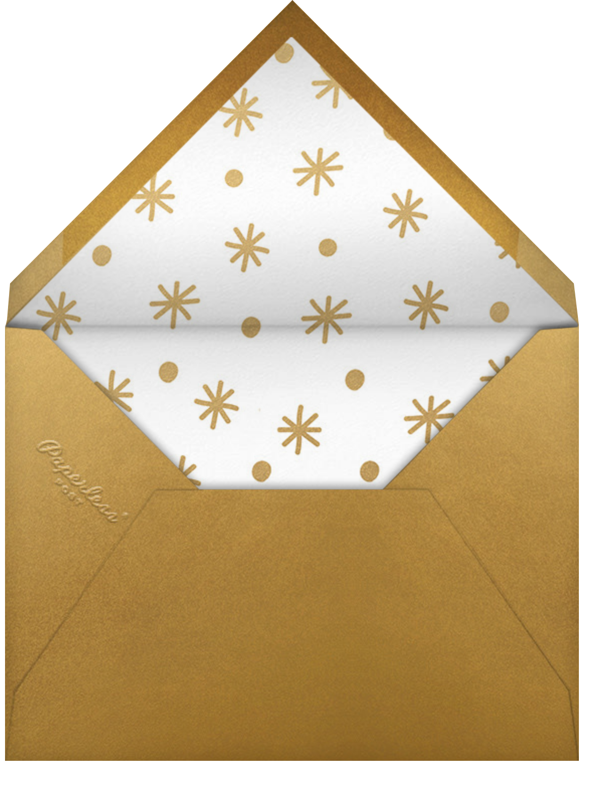 Classic Holiday - Paperless Post - Holiday cards - envelope back