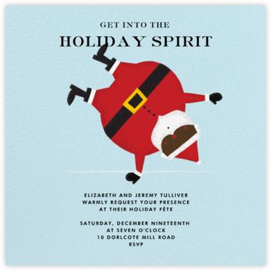 Cartwheelin' Clause - Deep - Paperless Post - Christmas party invitations