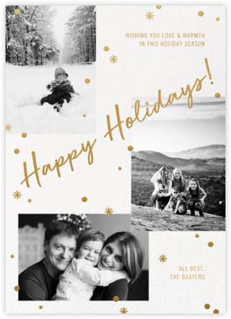 Holiday Magic - Gold - Paperless Post -