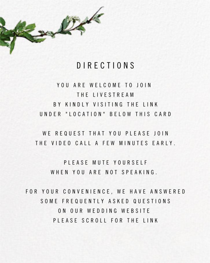 Chincoteague (Invitation) - Paperless Post - Virtual wedding - insert front