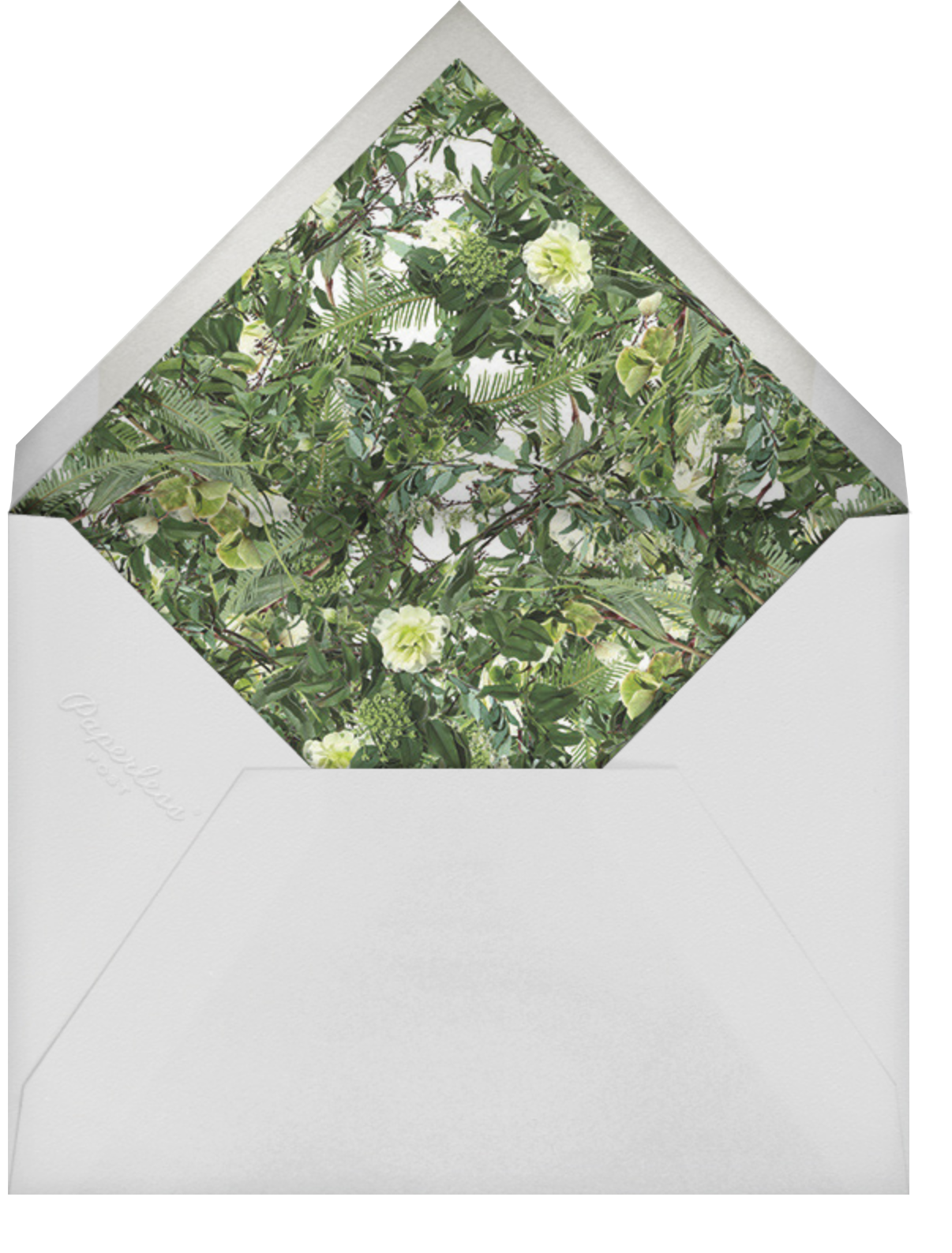 Chincoteague Vine - Paperless Post - Virtual wedding - envelope back
