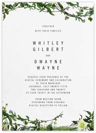 Chincoteague Vine - Paperless Post - Virtual Wedding Invitations