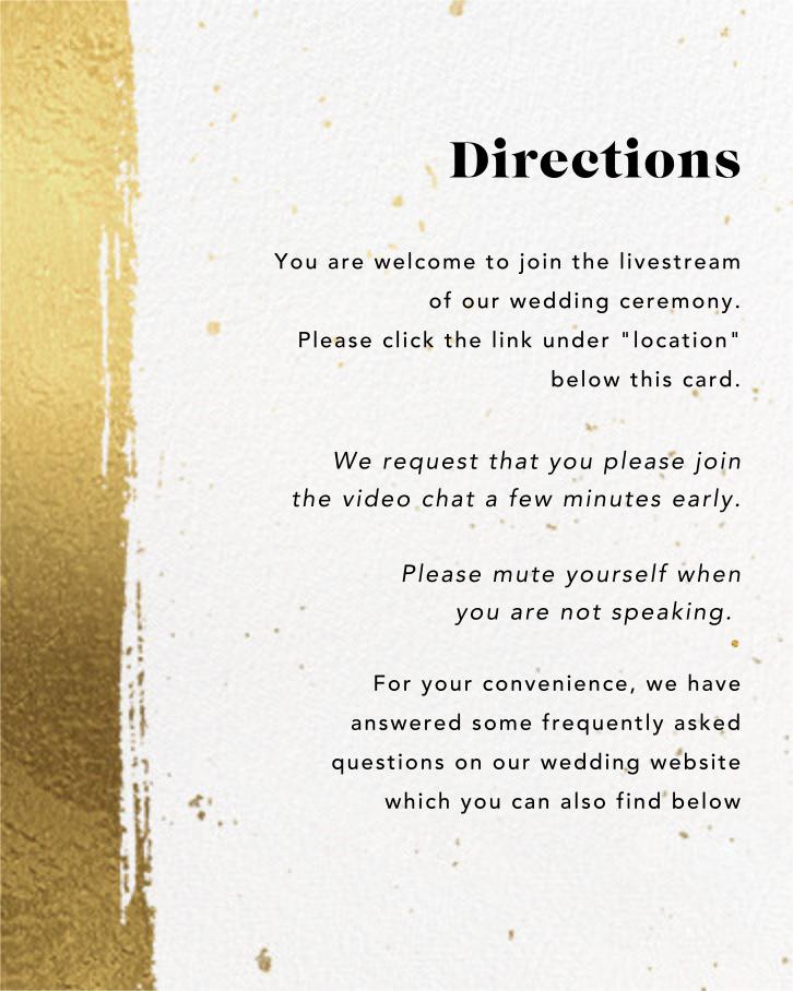 Pintura (Invitation) - Paperless Post - Virtual wedding - insert front