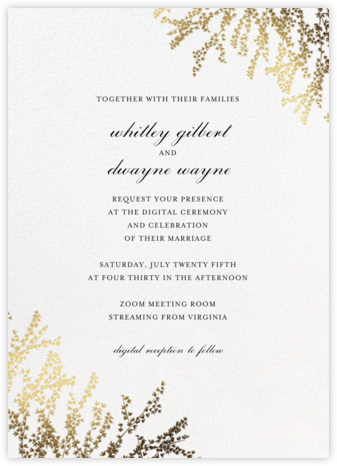 Forsythia (Invitation) - White - Paperless Post - Virtual Wedding Invitations